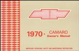 1970 Camaro Owner'S Manual