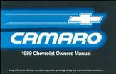 1989 CAMARO OWNERS MANUAL