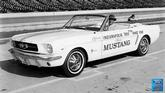"1964 Mustang Indy Pacecar, 24"" x 36"" Vintage Photo"