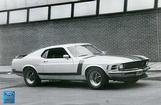 "1970 Mustang Boss 302, 24"" x 36"" Vintage Photo"