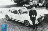 "1966 Shelby GT350 Cobra with Carroll Shelby Posing - 12"" x 18"" Vintage Photo"