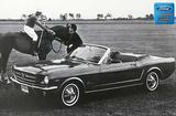 "1966 Mustang Convertible 12"" x 18"" Vintage Advertisement Photo"