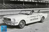 "1966 Mustang Convertible Indy 500 Pace Car 12"" x 18"" Vintage Photo"