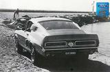 "1967 Mustang Shelby GT 350 Fastback On The Beach 12"" x 18"" Vintage Photo"