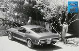 "1968 Shelby GT500 Fastback Rear View- Man and Woman Photo Shoot 12"" x 18"" Vintage Photo"