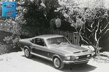 "1968 Shelby GT500 Fastback Front View- Man and  Woman Photo Shoot 12"" x 18"" Vintage Photo"
