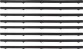 1973-76 DART 4 DOOR SEDAN 8 PIECE DOOR GLASS WEATHERSTRIP SET
