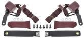 1970-73 Duster Burgundy 3 Point Retractable Seat Belts