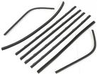 1964-66 Barracuda 8 Piece Door Glass Weatherstrip Set