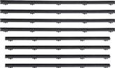 1963-66 Valiant 4 Door Sedan 4 Piece Factory-Style Front Door Glass Weatherstrip Set