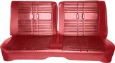 "1968 Satellite/Road Runner With ""Decore"" Package Red/Maroon Vinyl Front Split Bench Upholstery"