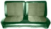 1969 Satellite 2 Door Hardtop Green Cloth / Light Green Vinyl Front Split Bench Seat Upholstery