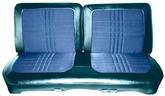 1969 Satellite 2 Door Hardtop Blue Cloth/Dark Metallic Blue Vinyl Front Split Bench Seat Upholstery