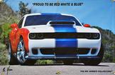 Proud to be Red, White, and Blue Hellcat Patriot 4' X 6'