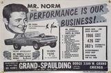 Mr Norm's Says Performance is Our Business 4' X 6'