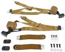 1967-73 Chevy II / Nova - 3 Point Seat Belt Set - Tan (Pair)