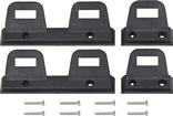 1968-1969  A-Body & B-Body Front And Rear Black Seat Belt Retaining Clip Set (Front Bench Seat)