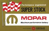 1962-67 Mopar Super Stock Battery Decal