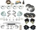"1960-76 Mopar A-Body 4 Wheel Power Disc Brake Conversion Set with 11"" Drilled and Slotted Rotors"