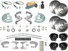 "1960-76 Mopar A-Body 4 Wheel Manual Disc Brake Conversion Set with 11"" Drilled and Slotted Rotors"
