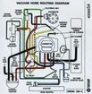 1975 Mopar 360-4V Vacuum Hose Routing Decal - OE# 4006954