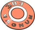 1966-70 DODGE MAGNUM 383 ORANGE AIR CLEANER LID DECAL