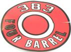 1966-70 Mopar 383 Four Barrel Red Air Cleaner Lid Decal