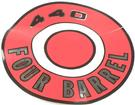 1966-68 MOPAR 440 FOUR BARREL RED AIR CLEANER LID DECAL