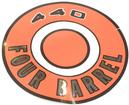 1966-71 MOPAR 440 FOUR BARREL ORANGE AIR CLEANER LID DECAL