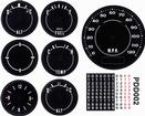 1970-74 Barracuda / 'Cuda With 120 Mph Speedometer / With Clock Standard  Gauge Decal Set