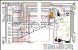 1965 Chrysler C-Body Color Wiring Diagram - 11 X 17