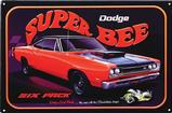 12-1/5 X 17-1/2  DODGE SUPER BEE TIN SIGN