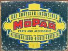16 X 12-1/2  1937-47 MOPAR PARTS AND ACCESSORIES TIN SIGN