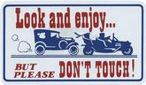 LOOK AND ENJOY DON'T TOUCH MAGNETIC SIGN