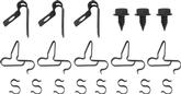 1966-70 MOPAR B-BODY FUEL LINE CLIPS 3/8 WITH RETURN CLIPS 21 PIECES