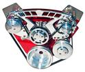 "318/340/360 Chrome March ""Style-Track Chrome Alternator / Chrome Canister Ps Serpentine Set"