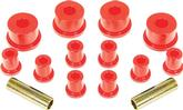 1960-76 Mopar A-Body Spring and Shackle Bushing Set ; Red Polyurethane