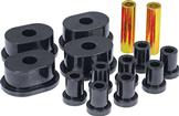 1973-74 MOPAR B / E-BODY  BLACK POLYURETHANE SPRING/SHACKLE BUSHING SET (OVAL, 5/8, 1)
