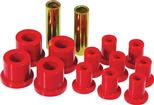 1960-76 Mopar A-Body Red Polyurethane Spring And Shackle Bushing Set (1-1/2 / 5/8 / 7/8)