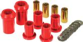 1962-76 Mopar A/B/E-Body Red Polyurethane Upper And Lower Control Arm Bushing Set Without Shells
