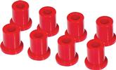 1960-76 MOPAR A / B / E-BODY RED 1 POLYURETHANE SHACKLE  BUSHING SET