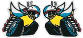 1970 Dodge Rear Side Window Scat Pac Bee Decals