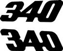 1971-74 DUSTER  BLACK 340 QUARTER PANEL DECALS