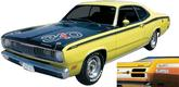 1971-74 DUSTER  WHITE 340 QUARTER PANEL DECALS WHITE