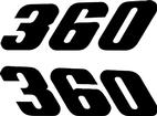 1971-74 DUSTER  BLACK 360 QUARTER PANEL DECALS