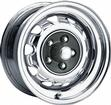 14 x 7 MOPAR FACTORY STYLE CHROME RALLYE WHEEL WITH 5 X 4 BOLT PATTERN AND 4-1/4 BACKSPACE