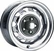 15 x 7 MOPAR FACTORY STYLE CHROME RALLYE WHEEL WITH 5 X 4 BOLT PATTERN AND 4-1/4 BACKSPACE