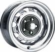 14 x 7 MOPAR FACTORY STYLE CHROME RALLYE WHEEL WITH 5 X 4-1/2 BOLT PATTERN AND 4-1/4 BACKSPACE