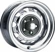 15 x 7 MOPAR FACTORY STYLE CHROME RALLYE WHEEL WITH 5 X 4-1/2 BOLT PATTERN AND 4-1/4 BACKSPACE