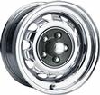 15 x 8 MOPAR FACTORY STYLE CHROME RALLYE WHEEL WITH 5 X 4-1/2 BOLT PATTERN AND 4-5/8 BACKSPACE